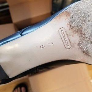 Coach Shoes - Coach Leather boots